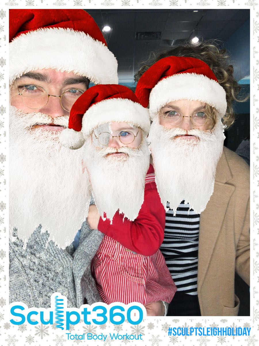 party guests dressed like santa