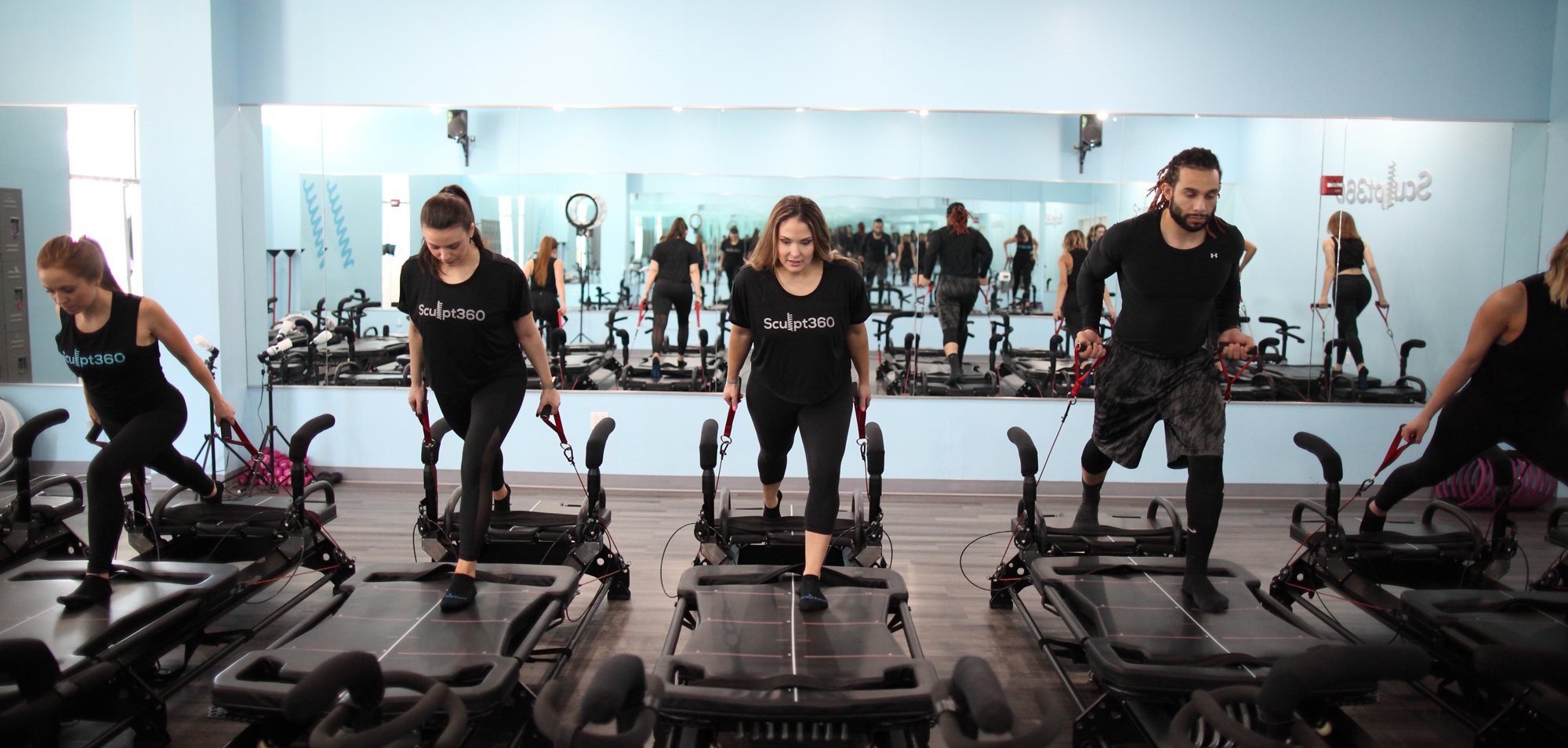 workouts in a Sculpt360 gym
