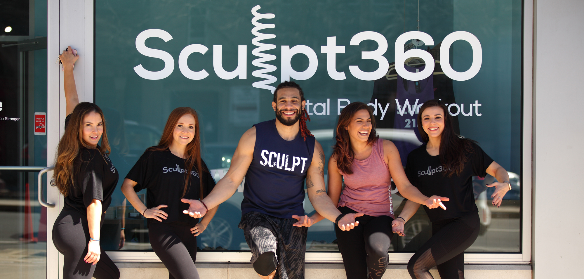 sculpt360 team in front of their fitness studio