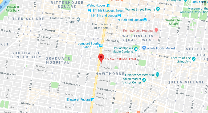 map of our fitness locations in philadelphia, pa